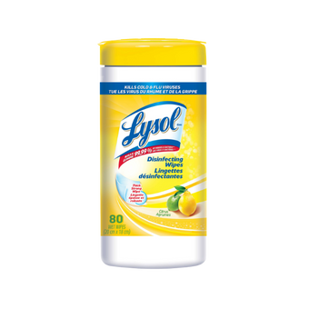 Lysol Disinfecting Wipes, 80/Can. Citrus