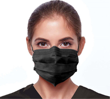 Black Ear Loop Safety Masks 50/Box