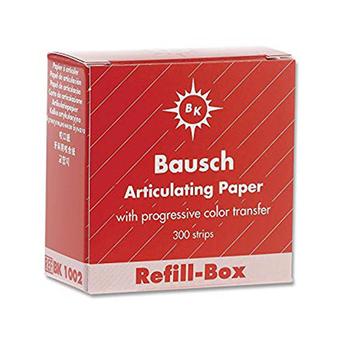 "Bausch .008"" (200 microns) Red Articulating Paper Strips, REFILL, 300/Box"