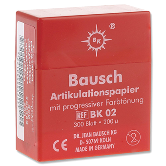 "Bausch .008"" (200 microns) RED Articulating Paper Strips, 300/Box"