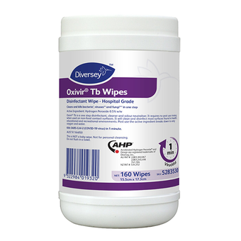 OXIVIR TB Disinfactant Wipes 160/Can