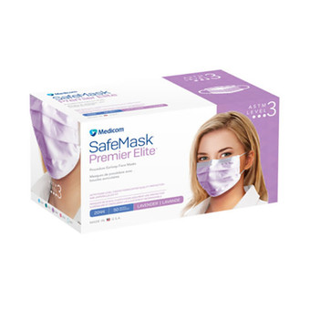 Medicom Safe Masks Premier Elite ASTM Level 3 Lavender 50/Box