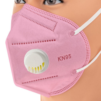 Pink KN95 Respiratory Masks 10/Box *** WITH VALVE ***