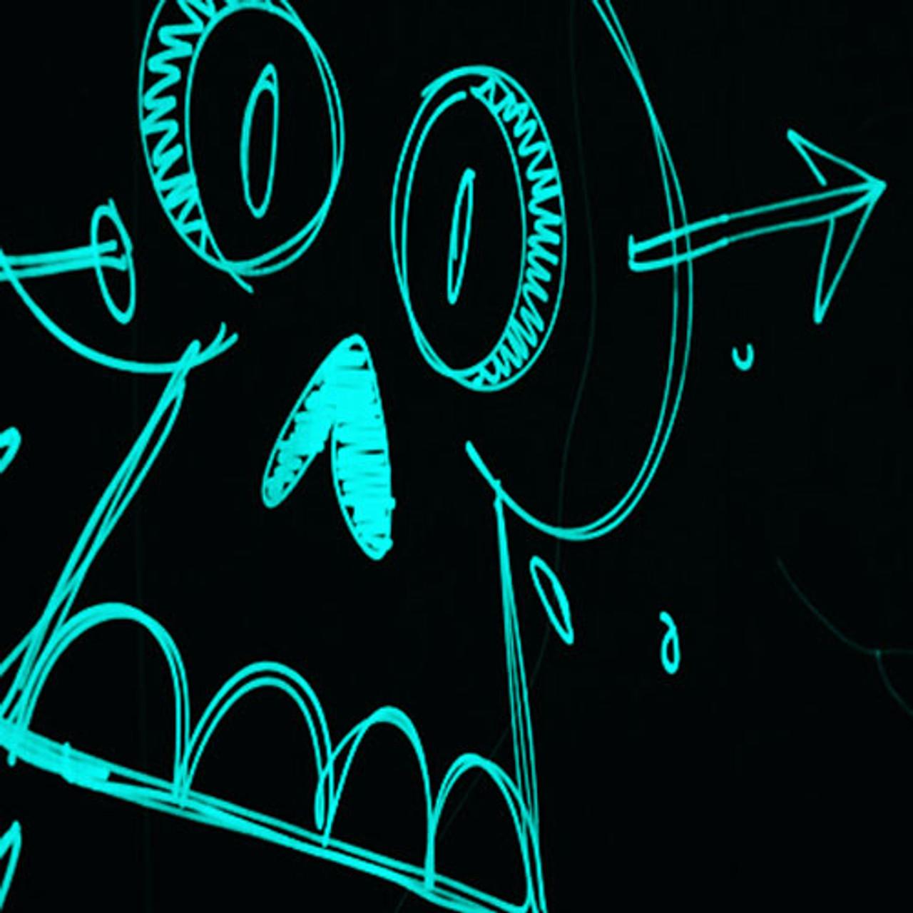 Aqua Glow In The Dark Paint Uv Glow Paint