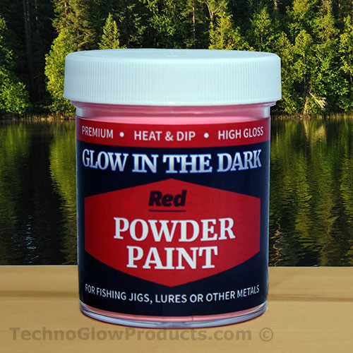 Red Glow in the Dark Powder Paint