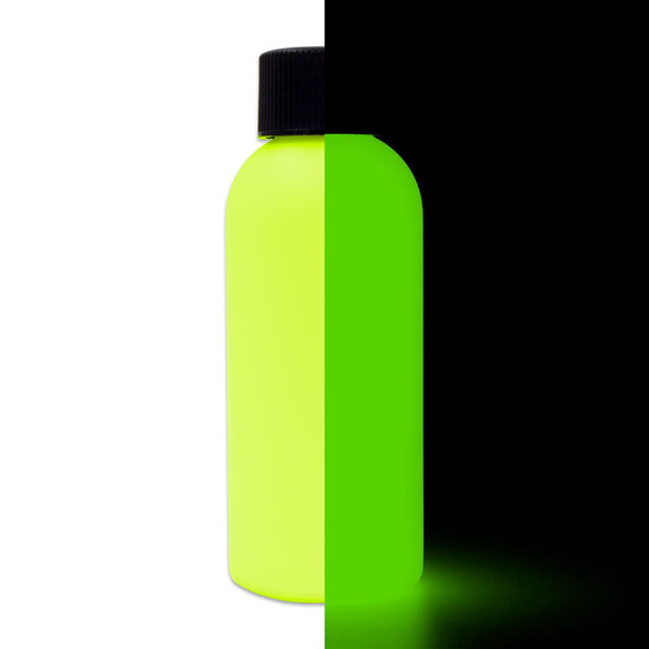 neon yellow glow paint