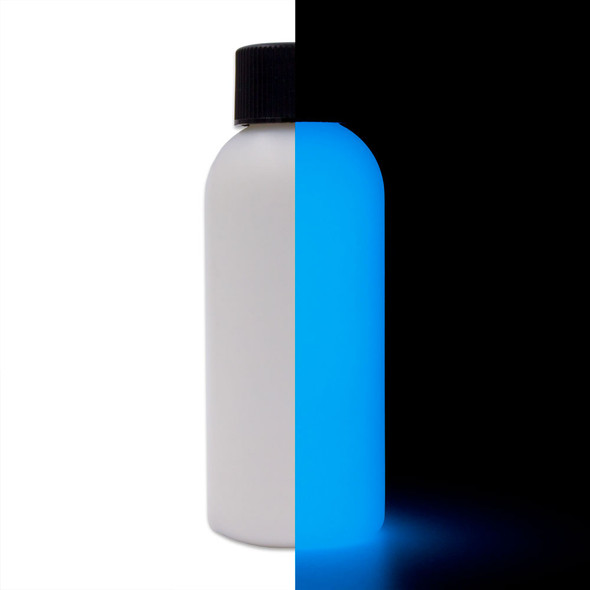blue glow in the dark paint