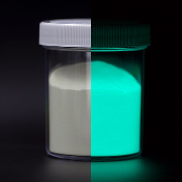 aqua glow in the dark powder
