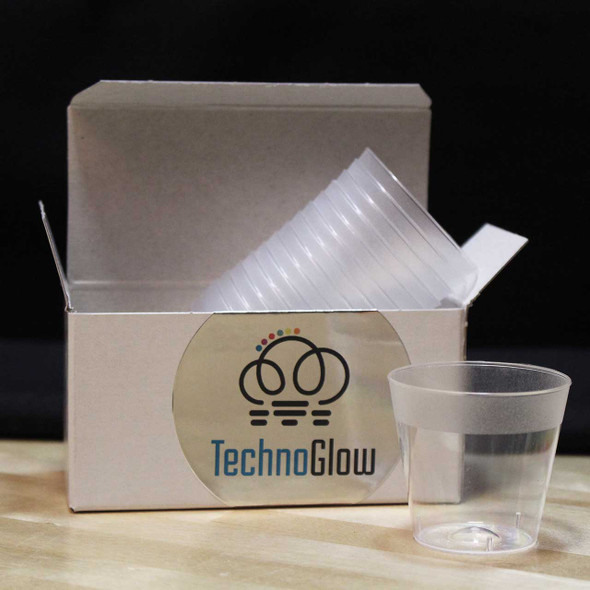 Clear plastic cups for glow in the dark