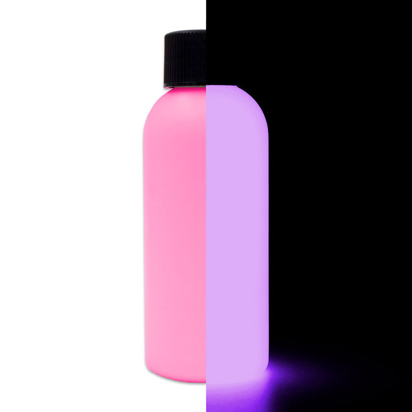 pink glow in the dark paint