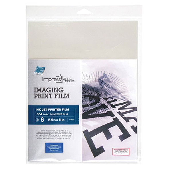 Imaging Print Film for Inkjet - 6 Pack