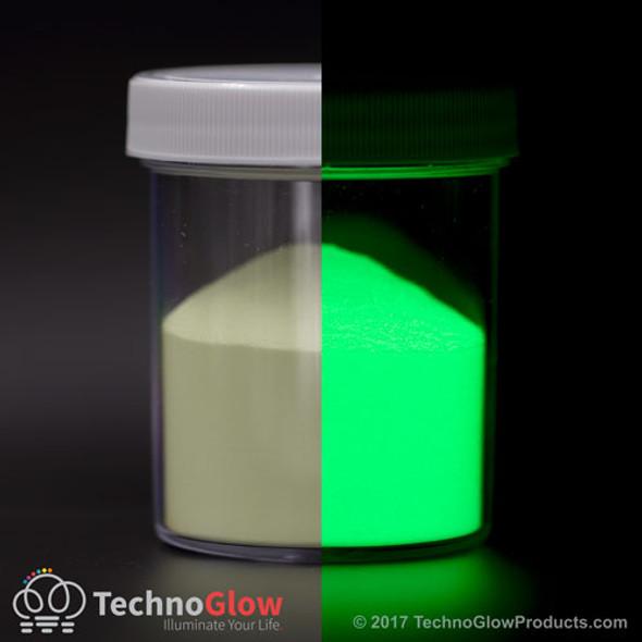 Glow in the dark powder glass.