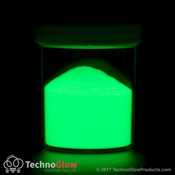 Glow in the dark glass pigment.