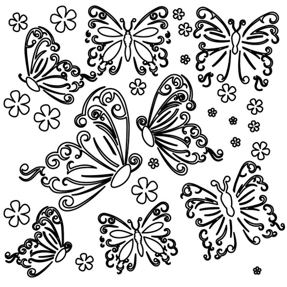 Small Butterflies Design Template
