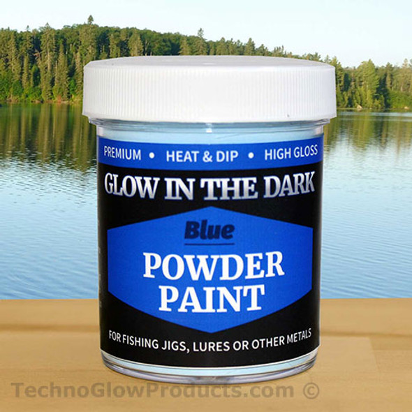 Blue Glow in the Dark Powder Paint