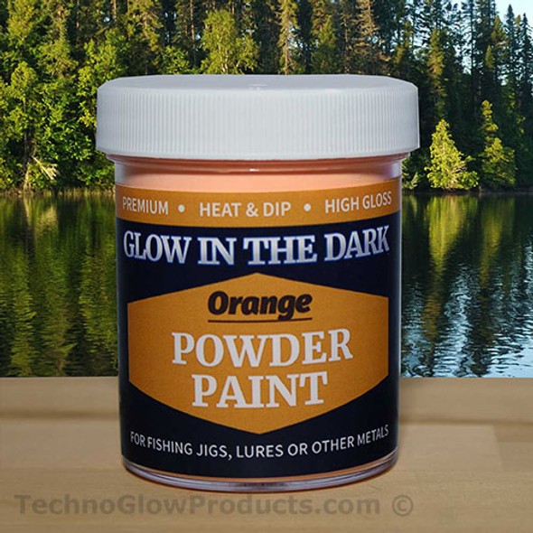 Orange Glow in the Dark Powder Paint