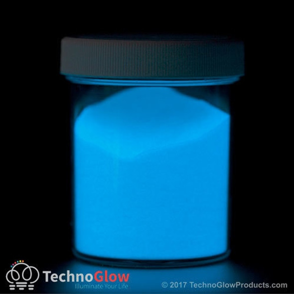 Blue Glow in the Dark & UV Powder < 35 Microns Waterproof