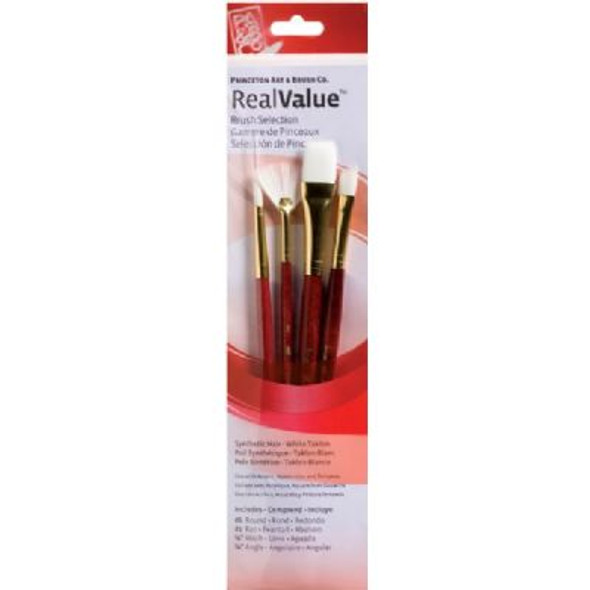 Watercolor, Acrylic and Tempera White Taklon Brush Set 9120