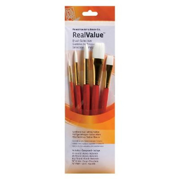 Watercolor, Acrylic and Tempera White Taklon Brush Set 9152