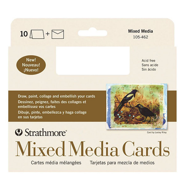 Mixed Media Full Size Cards & Envelopes - 10 Pack