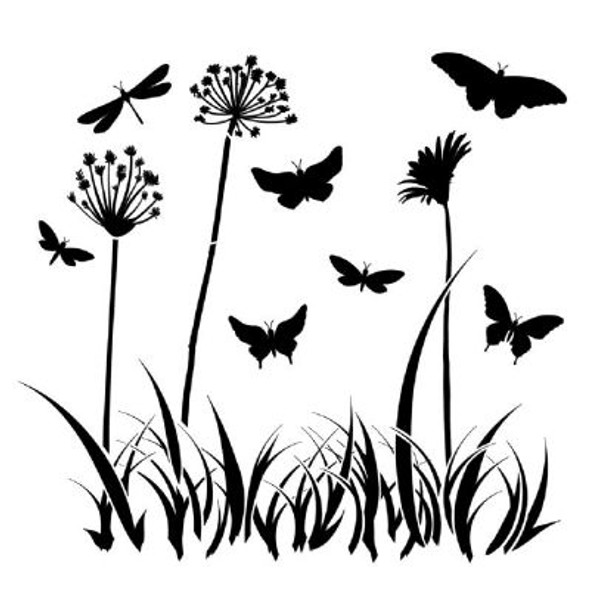 Small Butterfly Meadow Template
