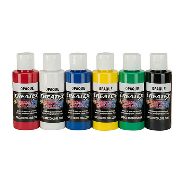 createx opaque airbrush paint set 6 pack