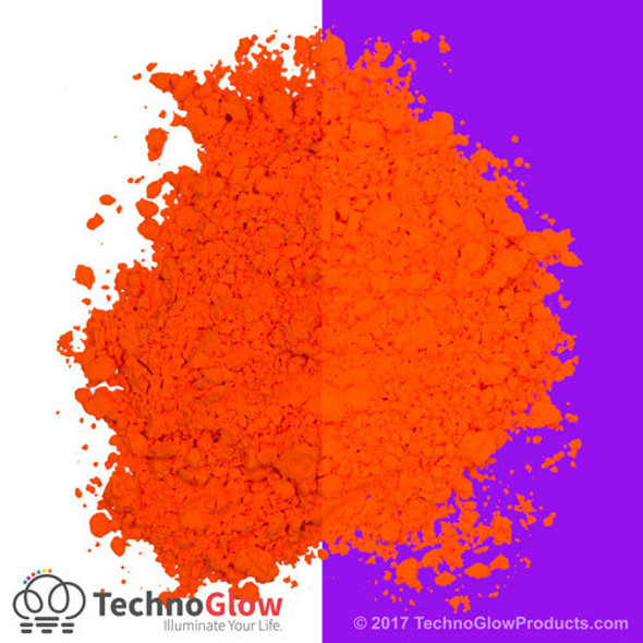 Firehouse Orange Fluorescent UV Powder