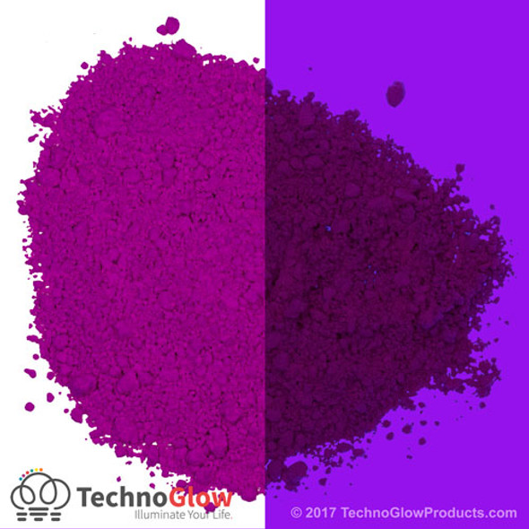 purple fluorescent pigment powder