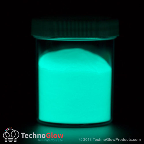 blue green photo luminescent powder pigment