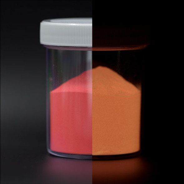 pink rust glow luminous powder pigment