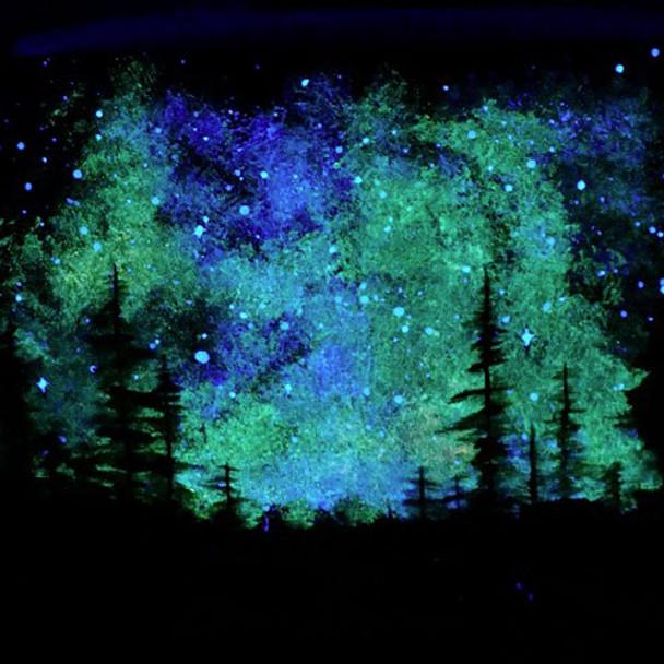 blue glow paint