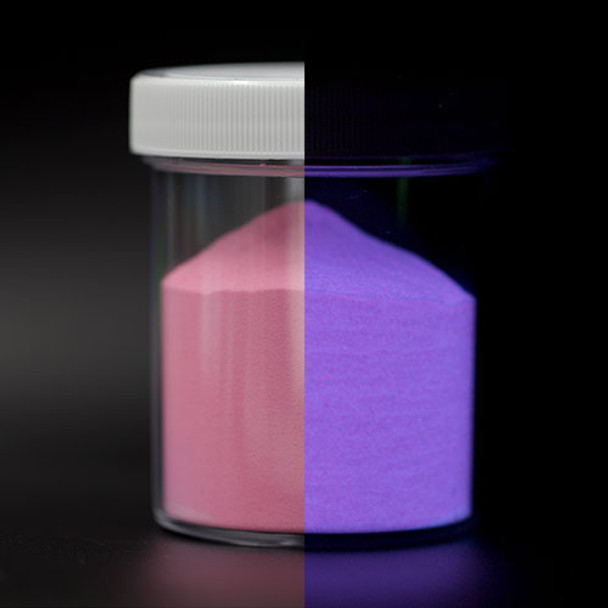 pink glow in the dark powder