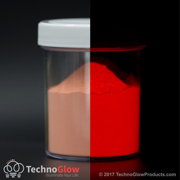 red glow in the dark powder