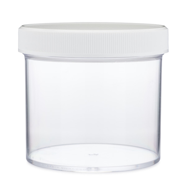 Clear wide mouth jar