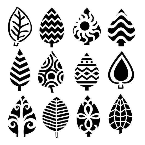 Small Abstract Leaves Design Template