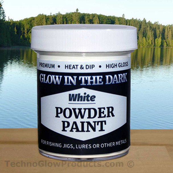 White Glow in the Dark Powder Paint