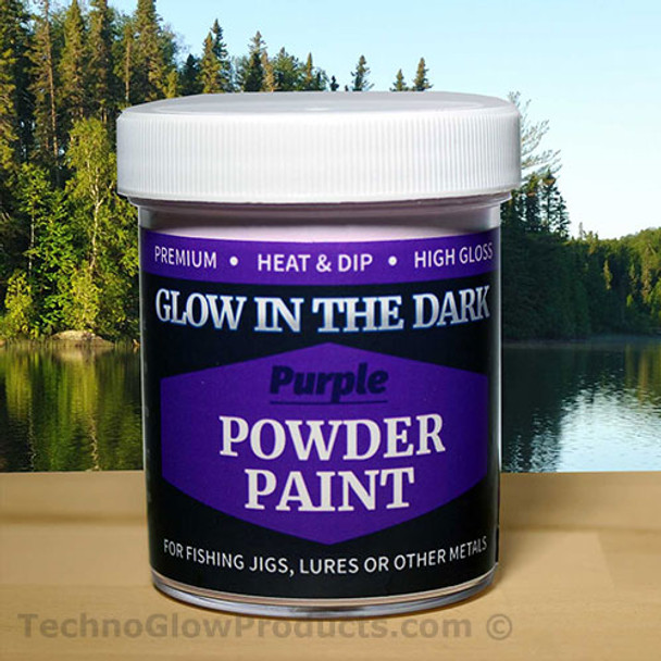 Purple Glow in the Dark Powder Paint