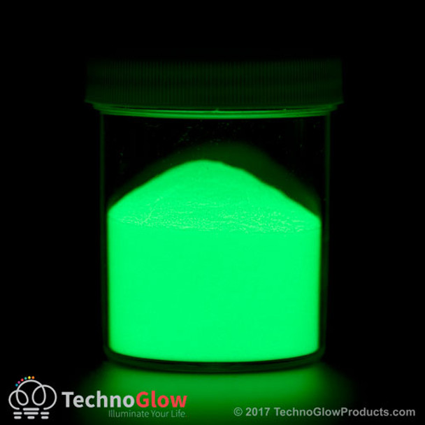 encapsulated photo luminescent green glow powder pigment