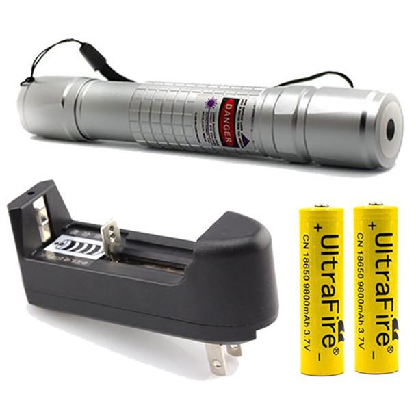 High Power UV Laser Light + Charger + 2 Batteries