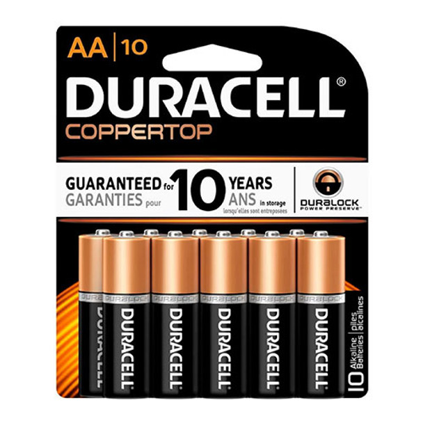 duracell coppertop 1.5 volt alkaline battery
