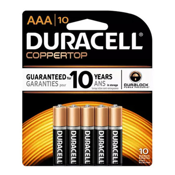 duracell coppertop aaa battery alkaline