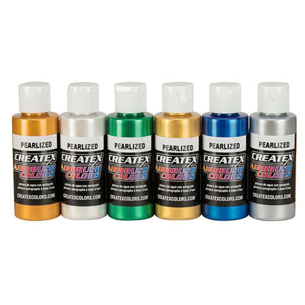createx pearlized airbrush set 6 pack