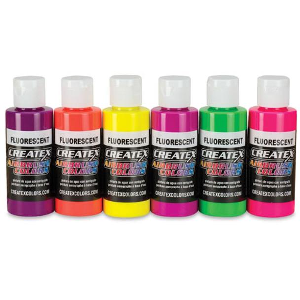 createx fluorescent paint set