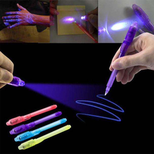 invisible secret message pen with uv light