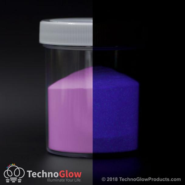 fluorescent purple glow in the dark powder