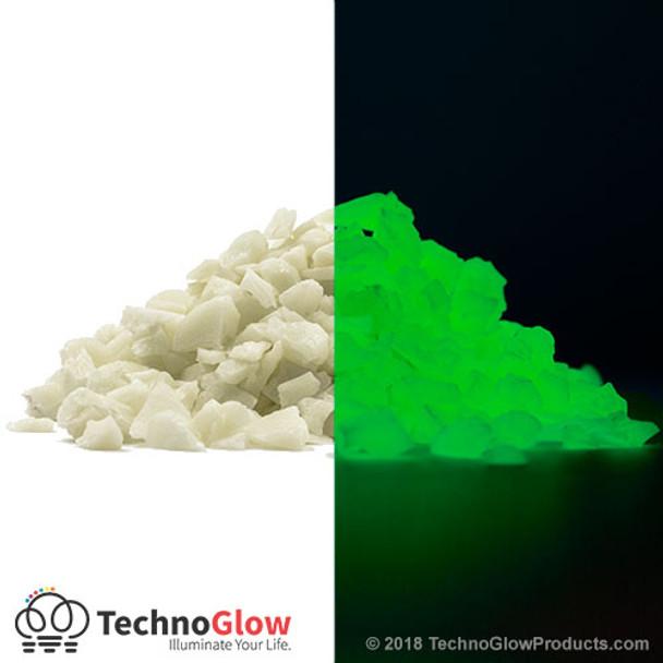 green glow in the dark stones