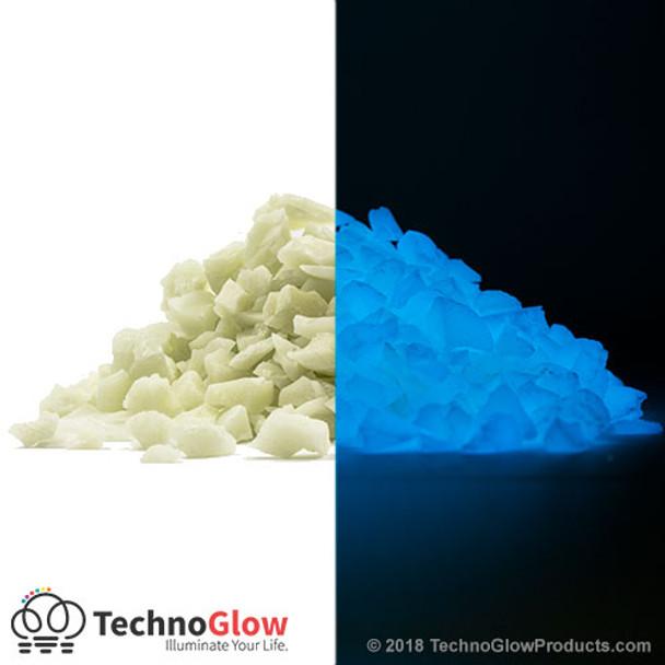 blue glow in the dark stones