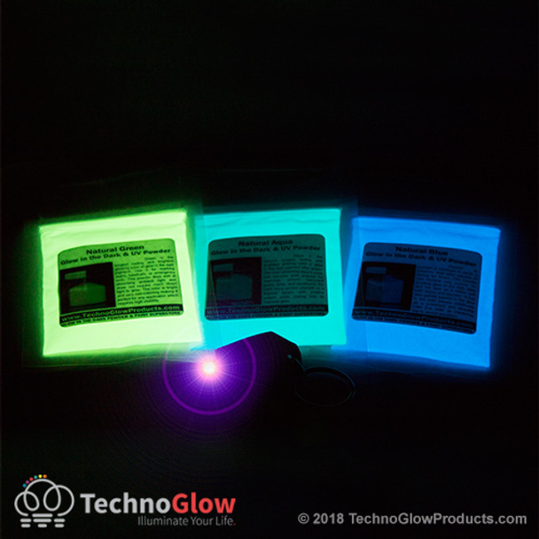 Glow Powder Coarse Kit + UV Light