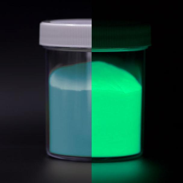 blue to green glow in the dark powder