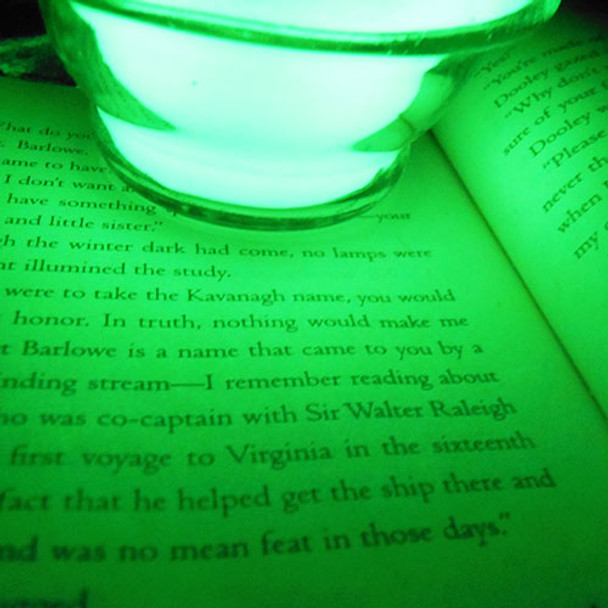 brightest glow powder to even read a book